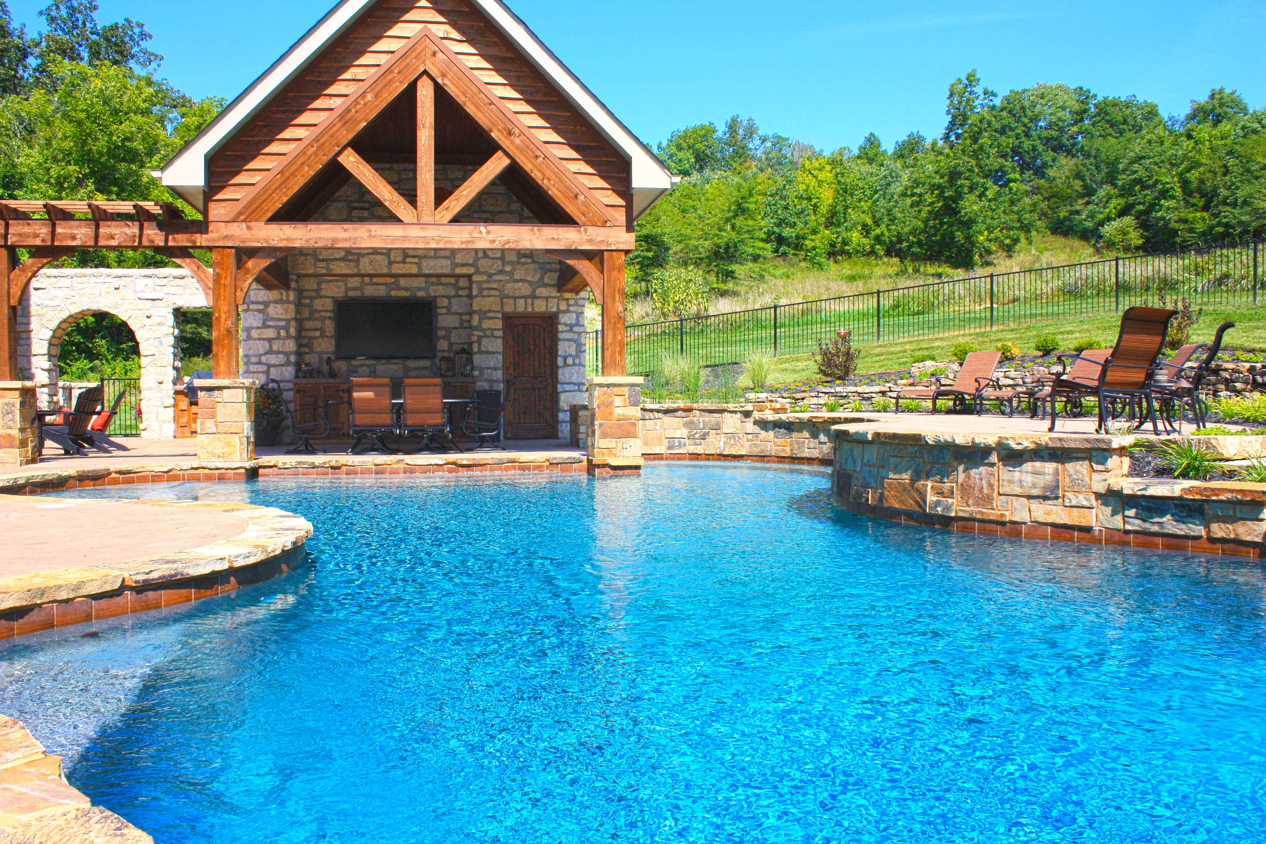 Baker pool construction st louis custom pools gallery for Pool pictures