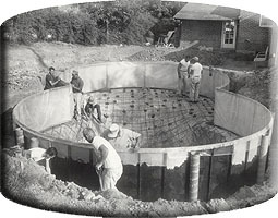Baker Pool Construction early picture