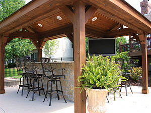 wood outdoor kitchen pallet st louis pool construction outdoor kitchen baker pool construction of st louis custom outdoor kitchens bbqs