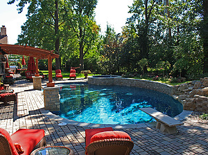 st louis pool construction, custom concrete pool, paver patio