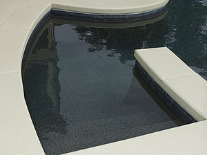 st louis pool construction, custom concrete pool, stair entry
