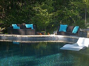 st louis pool construction, custom concrete pool, pebble finish