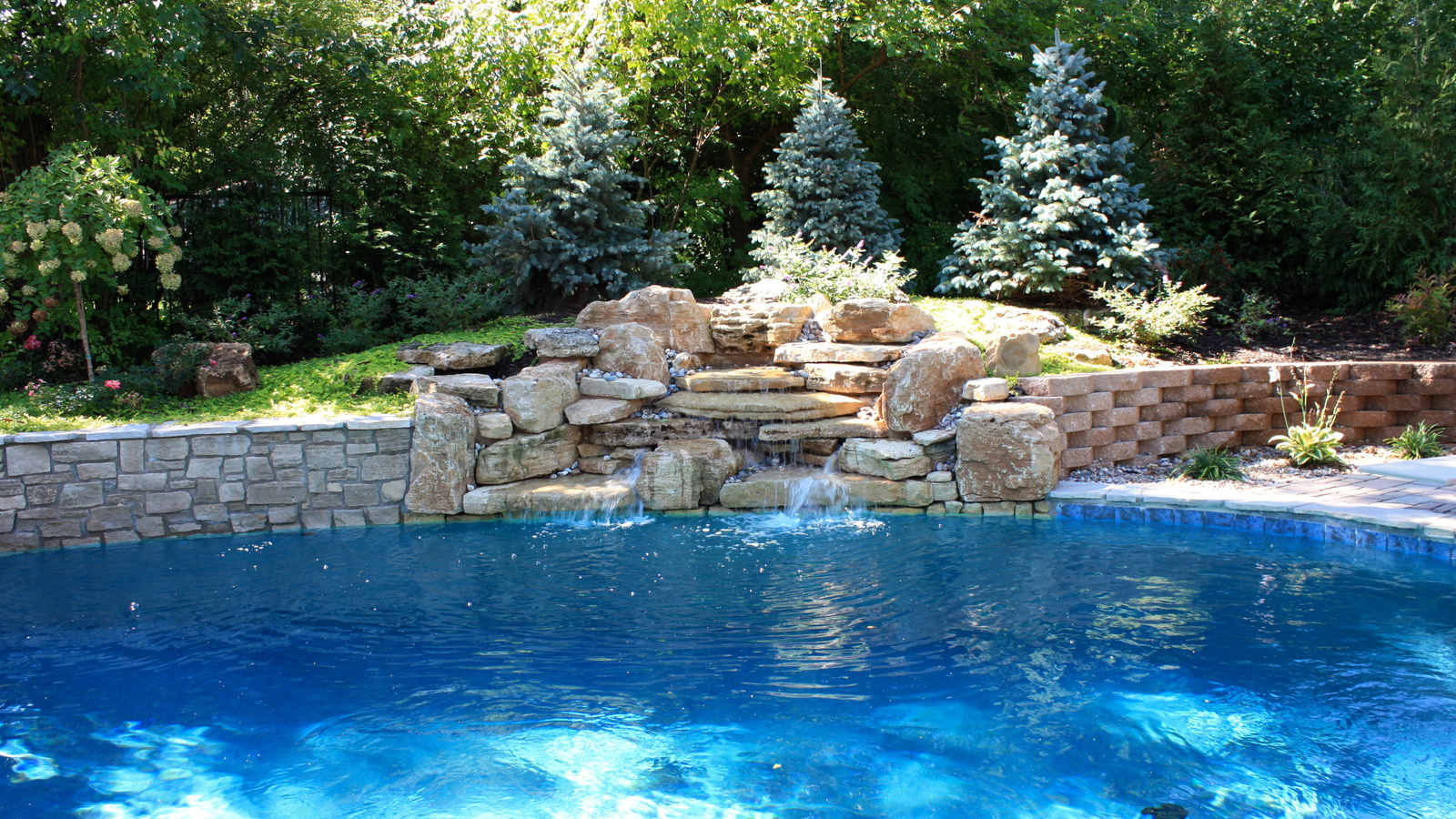 baker pool construction of st louis builders backyard fountains