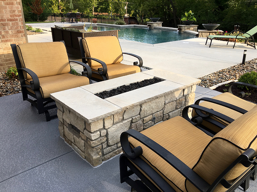Baker Pool Construction Of St Louis Builder Of Outdoor Fireplaces And Fire Pits