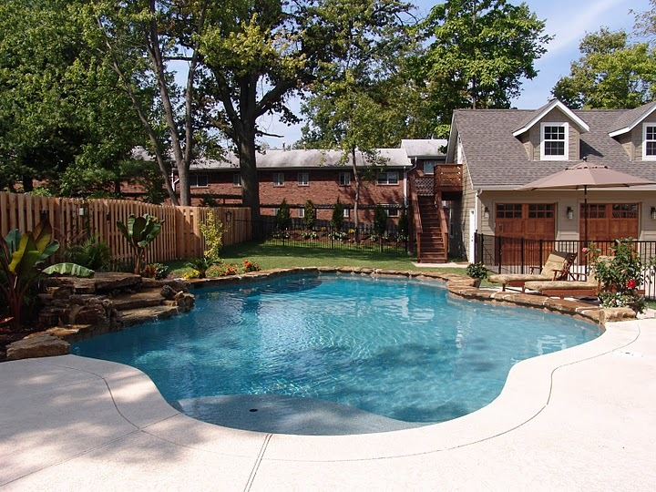 Baker pool construction kirkwood retreat for A perfect image salon chesterfield mo