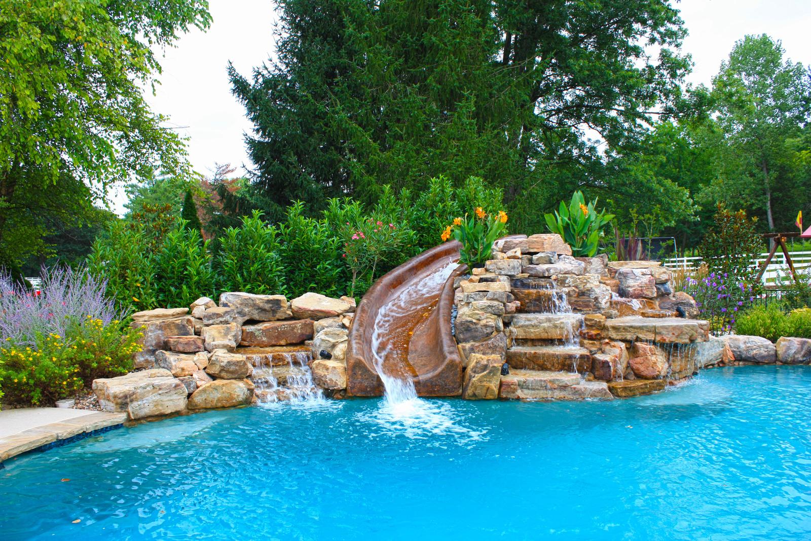 Baker Pool Construction Water Slides
