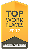 Recognized by the St. Louis Post Dispatch as one of the Top Workplaces in 2017